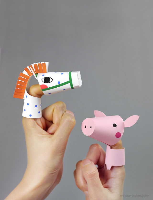 farm-animal-finger-puppets-horse-piggy