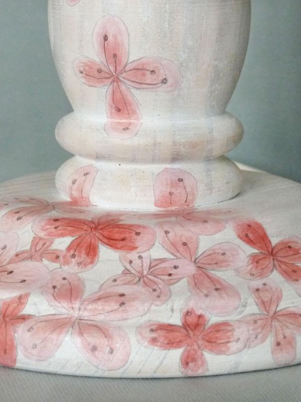 lampara-pintada-a-mano-flores-rosa-detalle